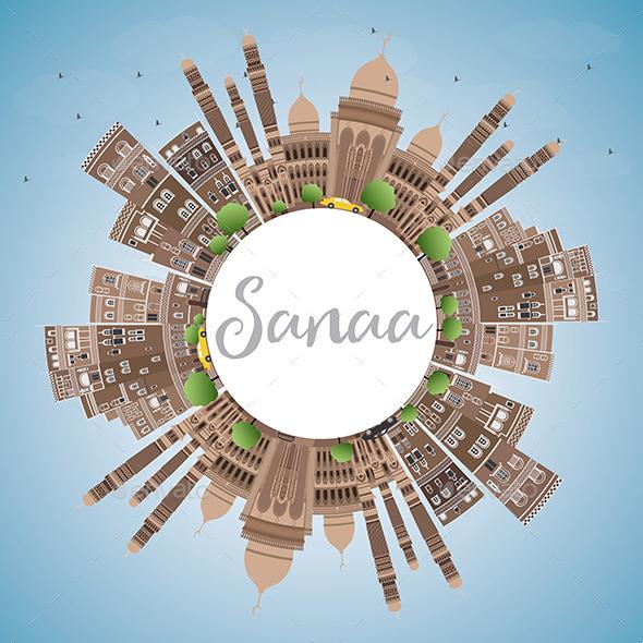 Sanaa (Yemen) Skyline - Buildings Objects