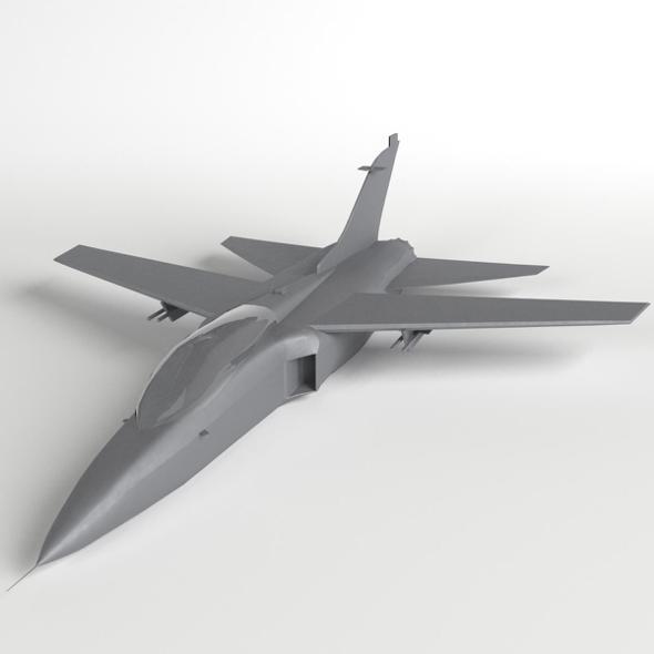 Fighter Jet Aircraft base mesh - 3DOcean Item for Sale
