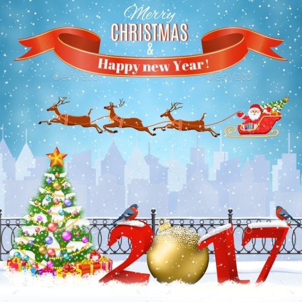 Christmas Winter Cityscape - Christmas Seasons/Holidays