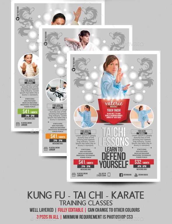 training flyer template