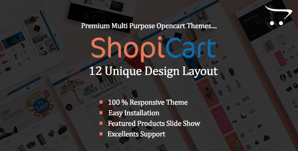 ShopiCart – MultiPurpose OpenCart Theme
