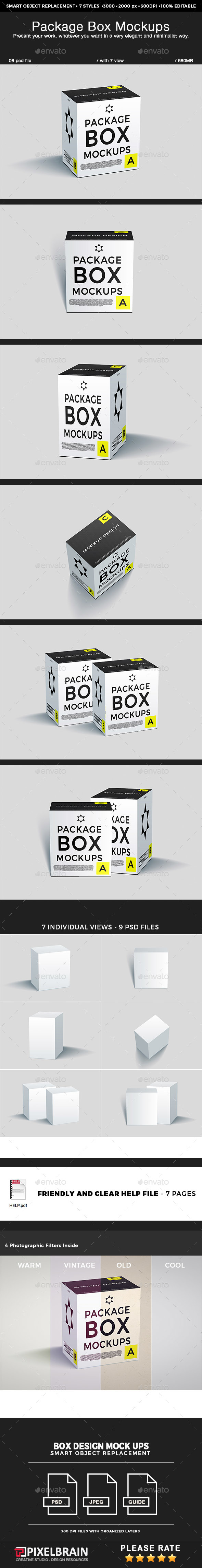 Package Box Mockups - Miscellaneous Packaging