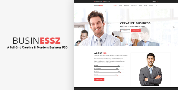Businessz – Business PSD Template