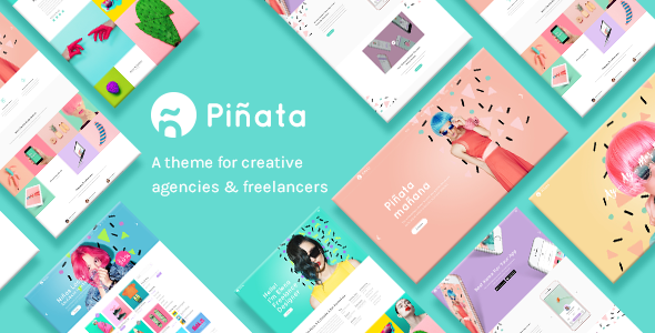 Piñata – A Fun, Vibrant Theme for Creative Agencies & Freelancers