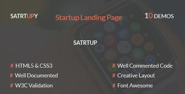 STARTUPY – Startup Landing Page