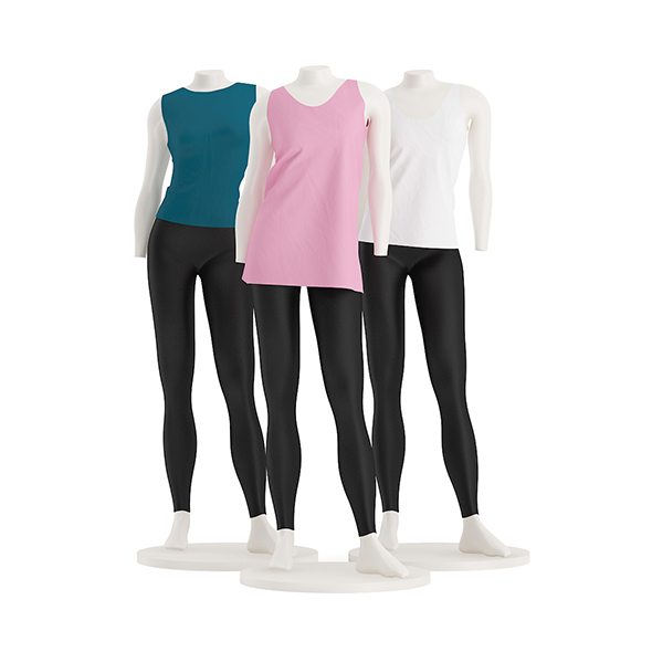 Store Mannequins with Shirts - 3DOcean Item for Sale