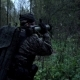 Military in the Forest Shoots From a Grenade Launcher - VideoHive Item for Sale