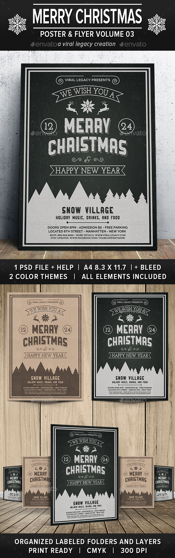 Merry Christmas Poster / Flyer V03 - Events Flyers