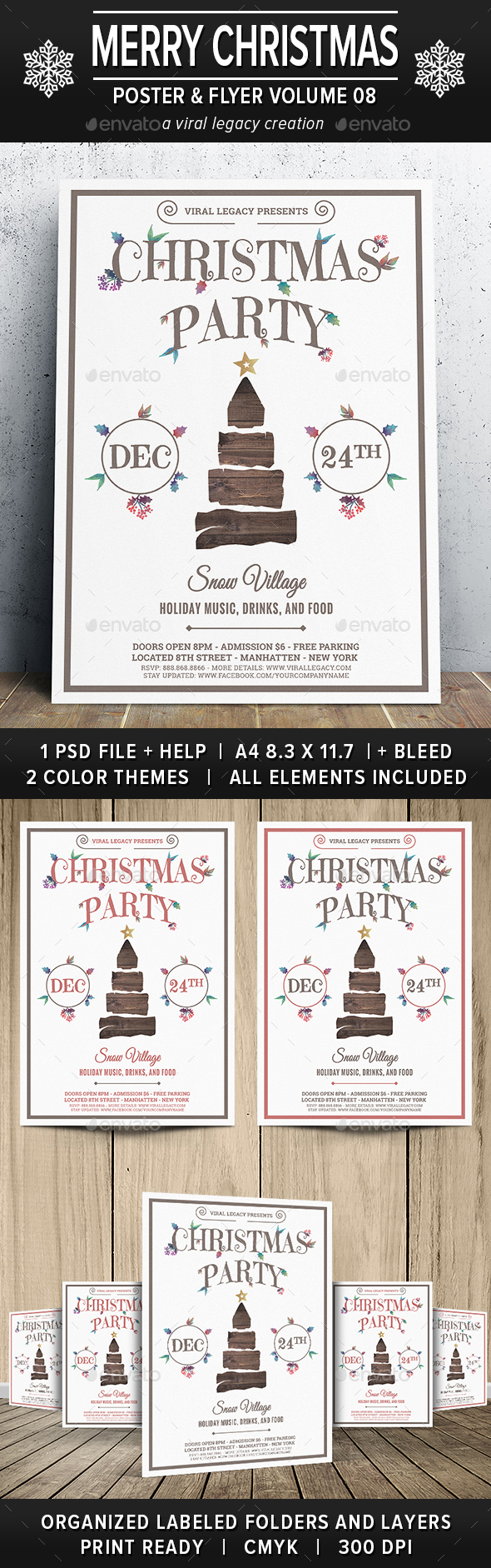 Merry Christmas Poster / Flyer V08 - Events Flyers