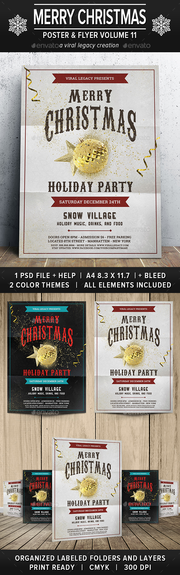 Merry Christmas Poster / Flyer V11 - Events Flyers