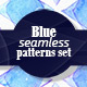 Blue Watercolor Patterns Pack - GraphicRiver Item for Sale