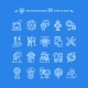Technologies White Icons - GraphicRiver Item for Sale