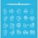 Thin Lines Icons Set of Marketing - GraphicRiver Item for Sale