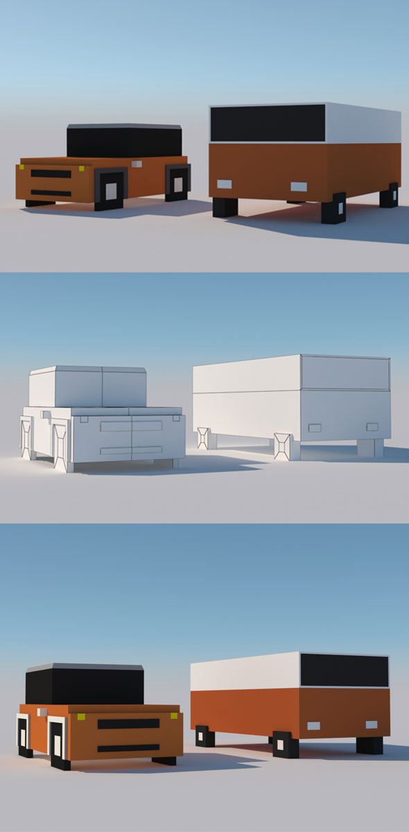 Cartoon Car 1 - 3DOcean Item for Sale