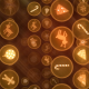 New Year and Christmas Golden Signs - VideoHive Item for Sale