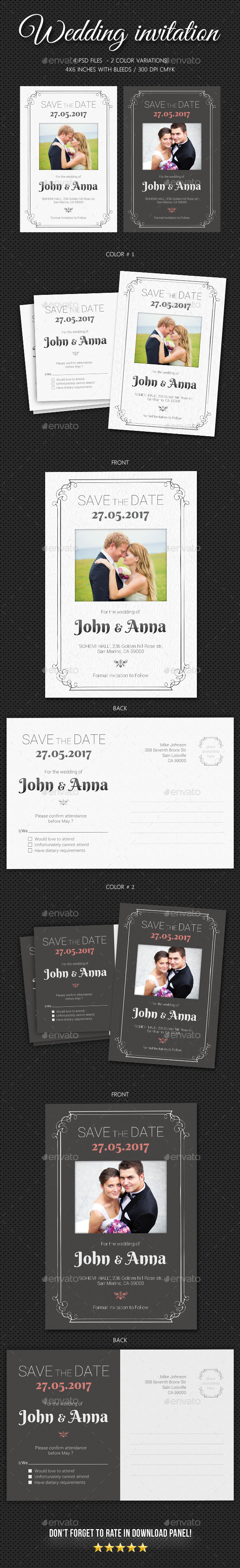 Wedding Invitation V5 - Weddings Cards & Invites