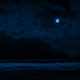 Waves On Shore Near Cliffs At Night - VideoHive Item for Sale