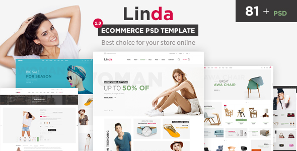 Linda - Mutilpurpose eCommerce PSD Template