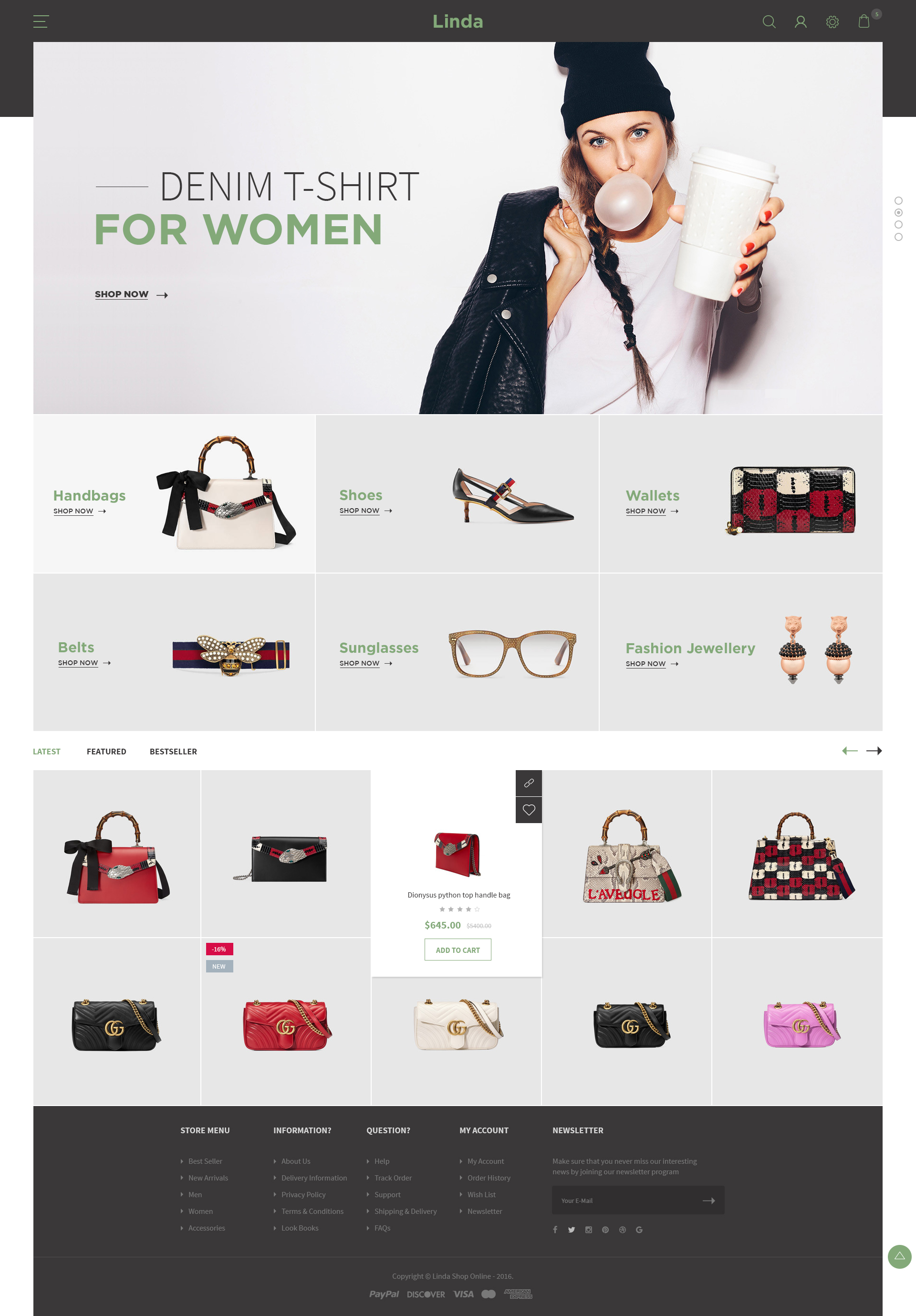 Linda - Mutilpurpose eCommerce PSD Template by PolygonTheme ...