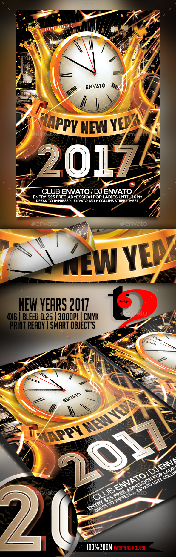 New Year 2017 flyer - Clubs & Parties Events