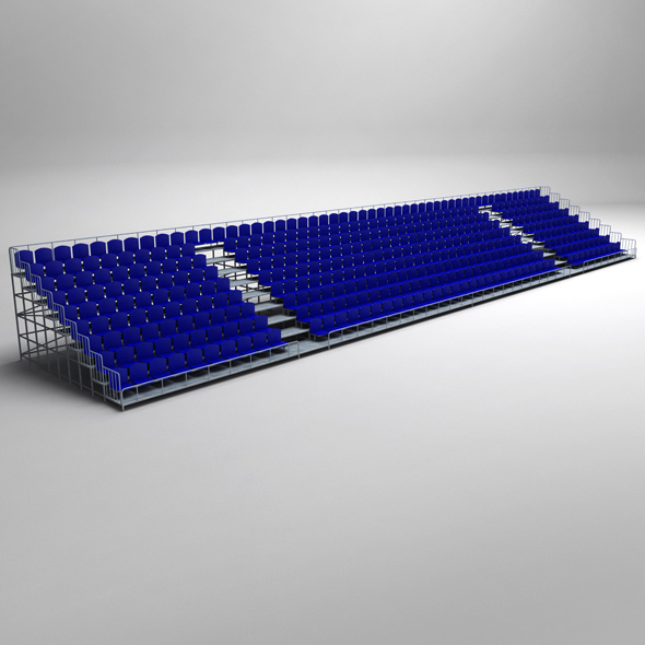 Stadium Seating Tribune - 3DOcean Item for Sale