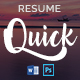 Quick - Resume and Cover Letter - GraphicRiver Item for Sale