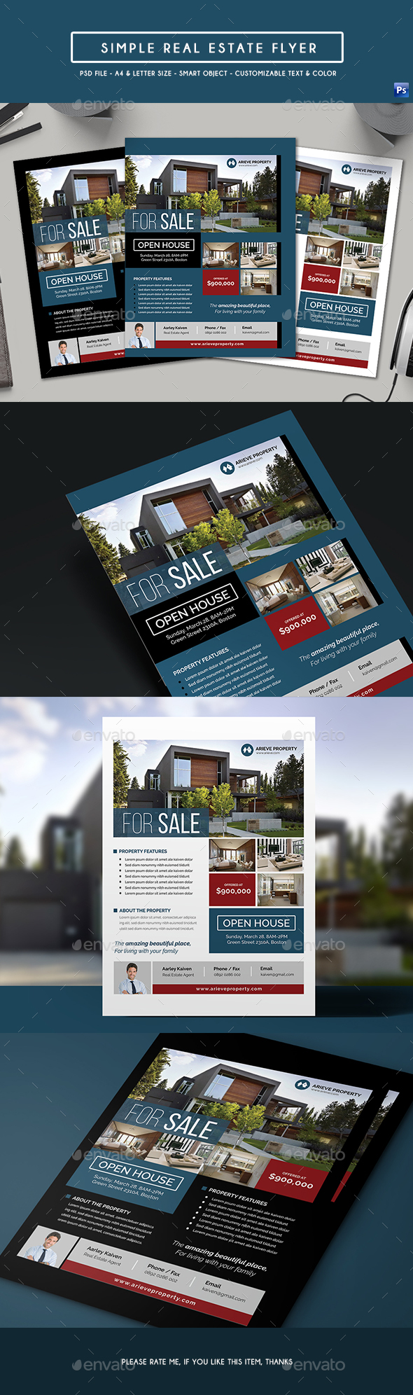 Simple Real Estate Flyer - Corporate Flyers
