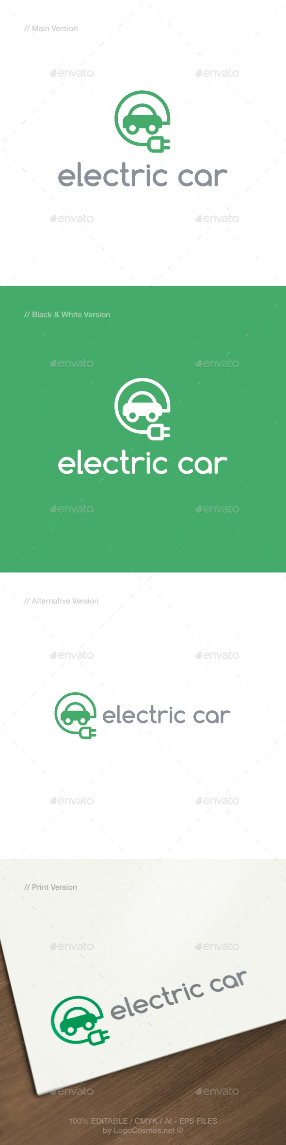 Electric Car Logo - Objects Logo Templates