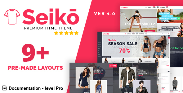Seiko – eCommerce HTML Template