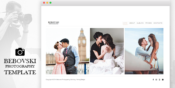 Bebovski Photography – Modern HTML Site Template for Photography