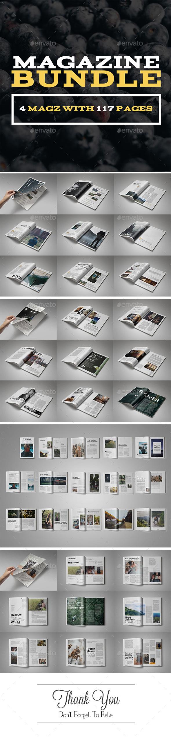 Magazine Bundle Vol.1 - Magazines Print Templates