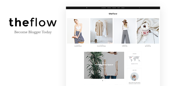 TheFlow - Blog PSD Template - Personal PSD Templates
