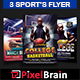 Sports Event Party Flyer Template Bundle Vol - 01