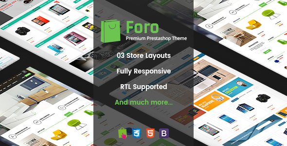 Image of Foro - Multipurpose Responsive Prestashop Theme