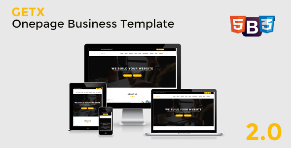 GetX - Onepage Business Template - Business Corporate