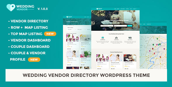 Vendor Directory HTML Template | Wedding Vendor - Wedding Site Templates