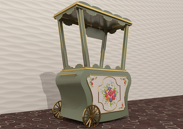 trolley 3d model - 3DOcean Item for Sale
