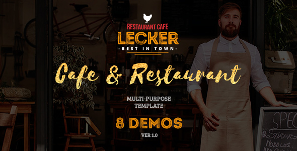 Cafe & Restaurant Template | Lecker Restaurant