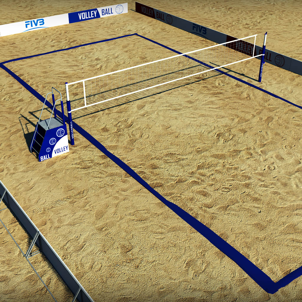 Beach Volleyball Court Low Poly By Kr3atura 3docean