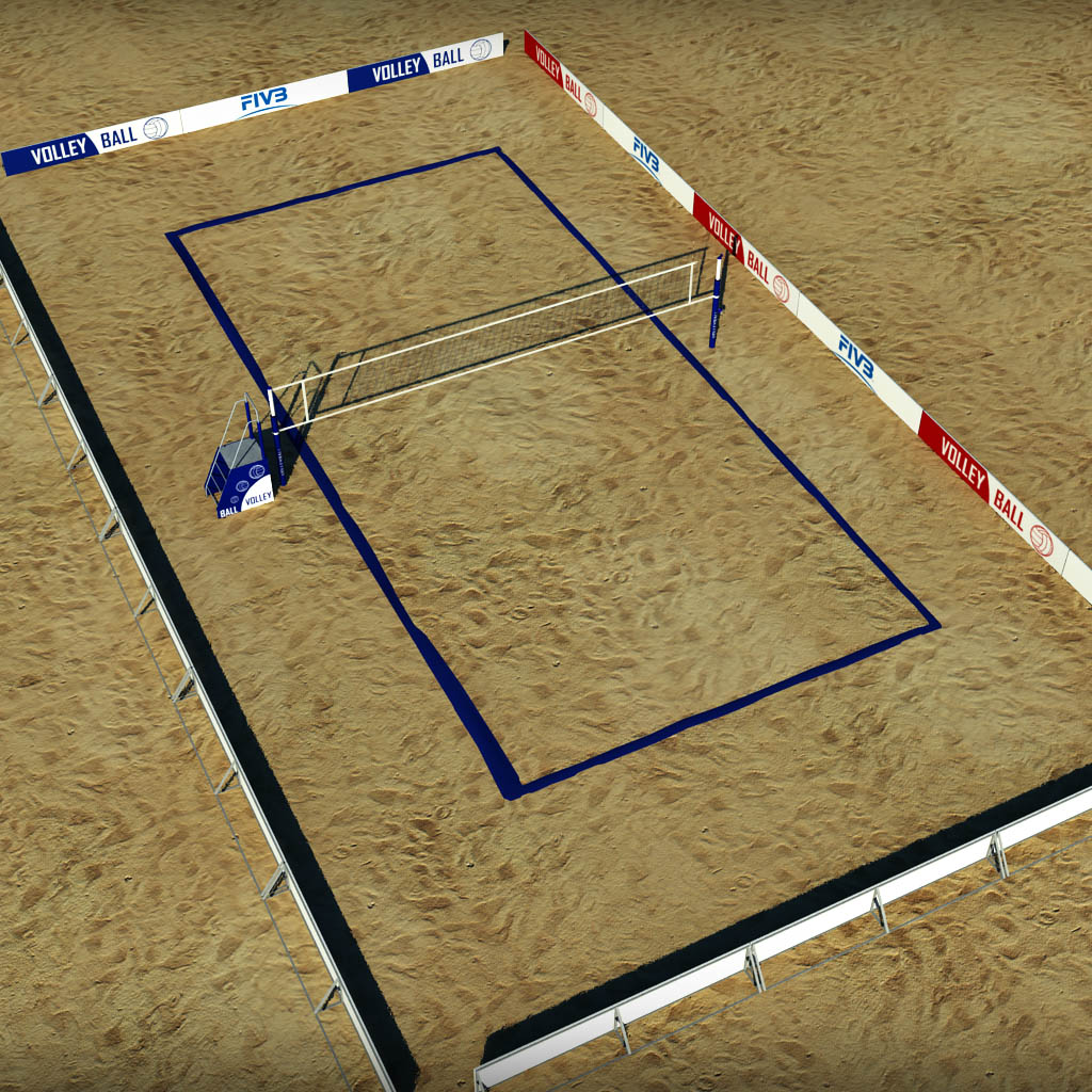 Volleyball Court Low Poly1 Jpg Beach Poly2 Poly3 Poly4