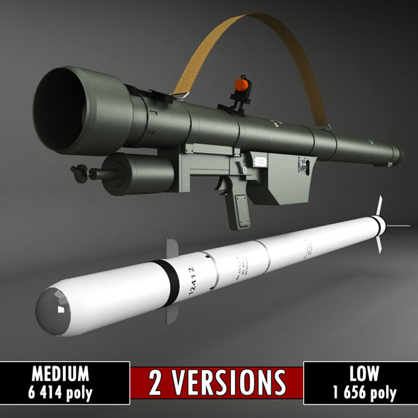 SA-7 Gral Rocket Launcher Pack - 3DOcean Item for Sale