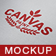 Canvas Paint Logo Mock Up - GraphicRiver Item for Sale