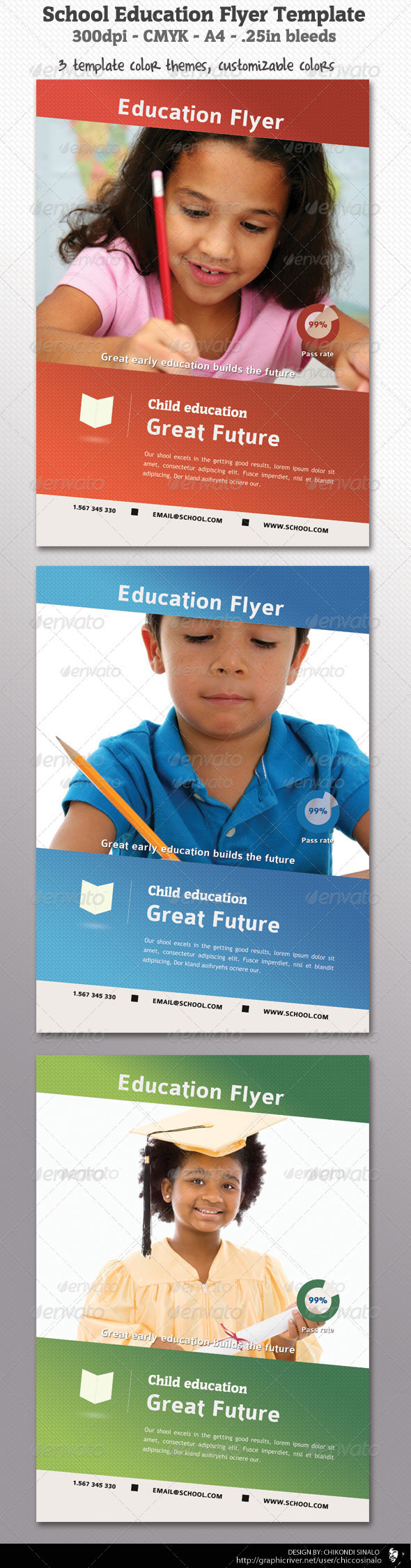 School Education Flyer Template - Flyers Print Templates
