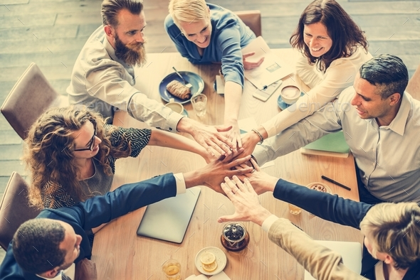 People Hand Assemble Connection Meeting Teamwork Concept - Stock Photo - Images