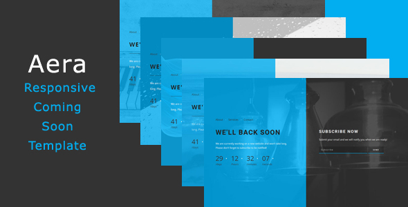 Aera - Responsive Coming Soon Template - Under Construction Specialty Pages