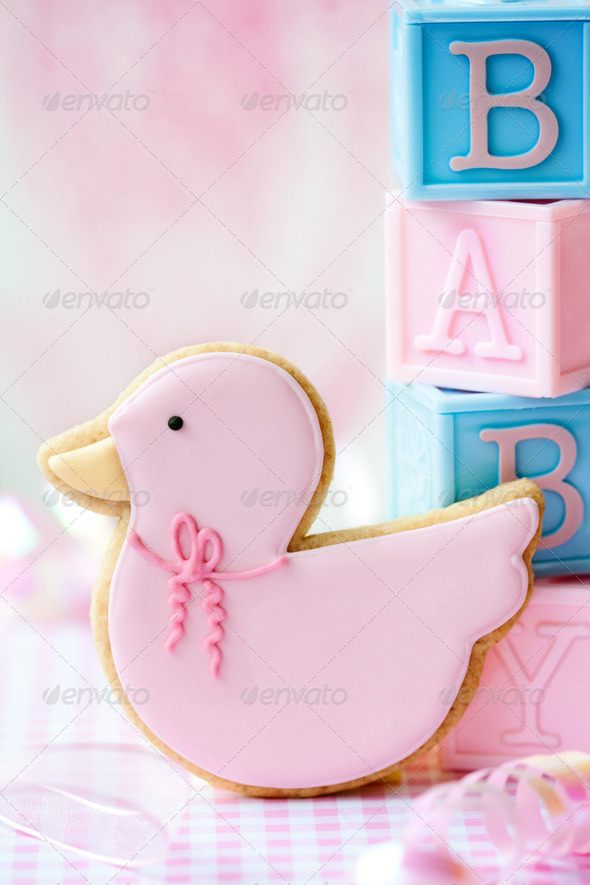 Baby shower cookie - Stock Photo - Images