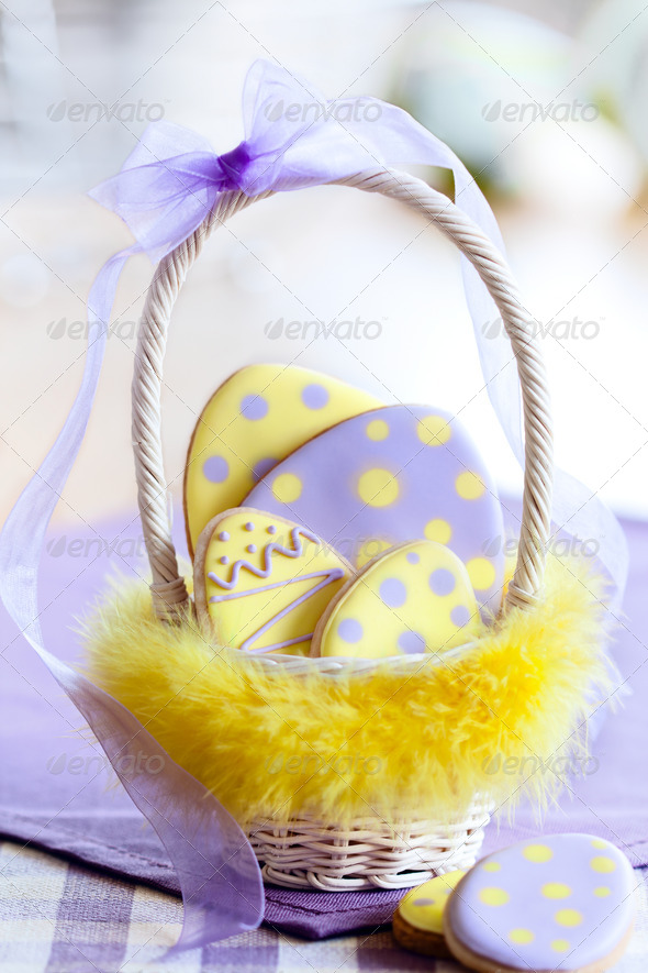 Easter egg cookies - Stock Photo - Images