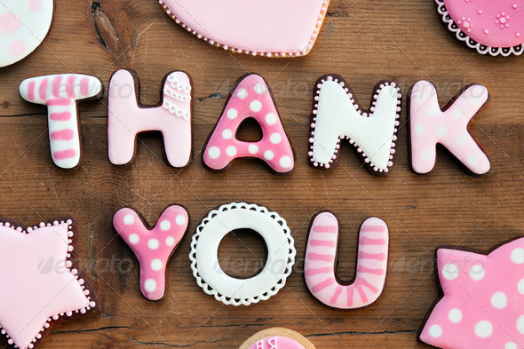 Thank you cookies - Stock Photo - Images