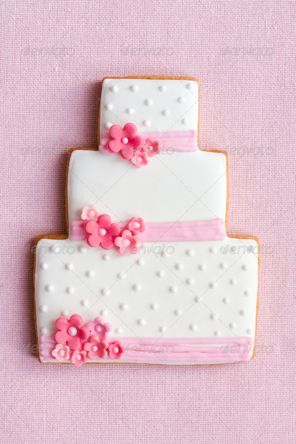 Wedding cake cookie - Stock Photo - Images