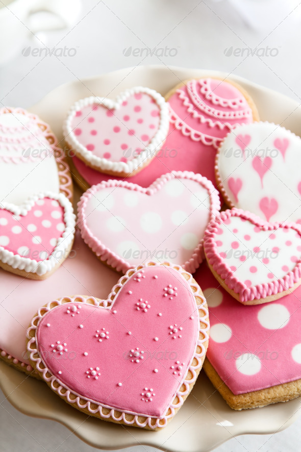 Valentine cookies - Stock Photo - Images